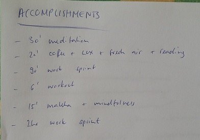 accomplishment list