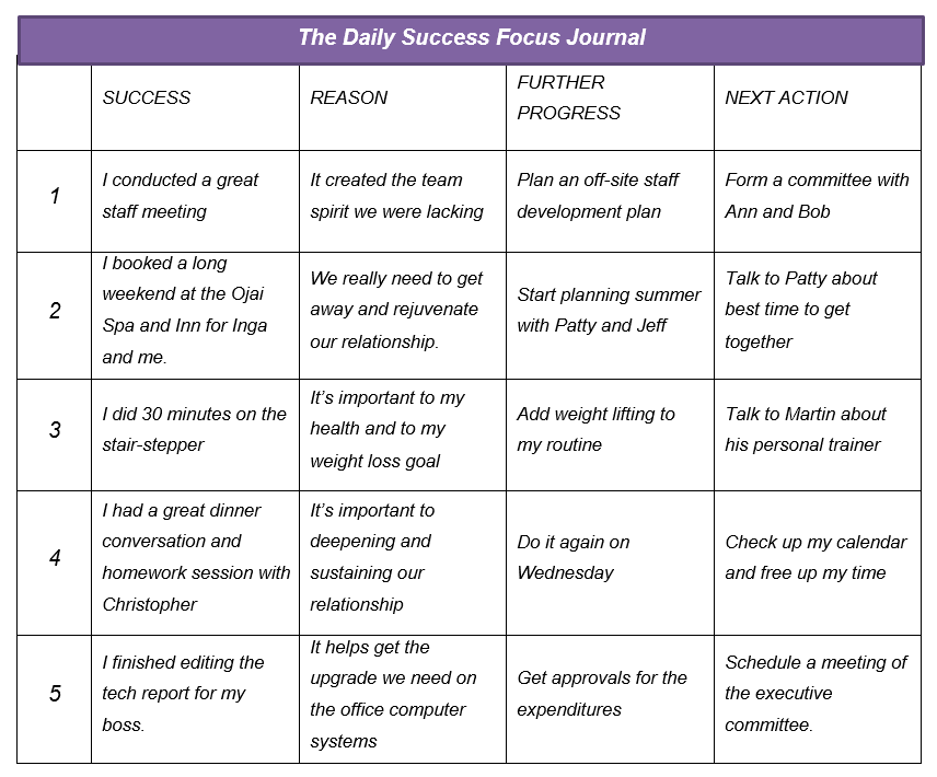jack canfield daily success focus journal