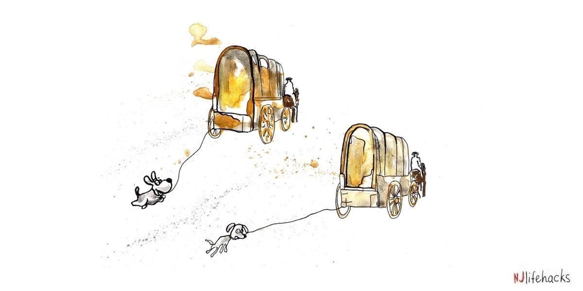 The dog and cart metaphor.