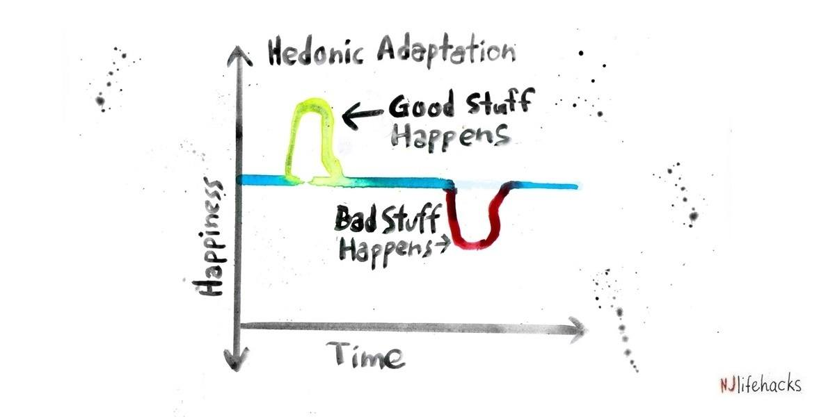 Hedonic adaptation graph