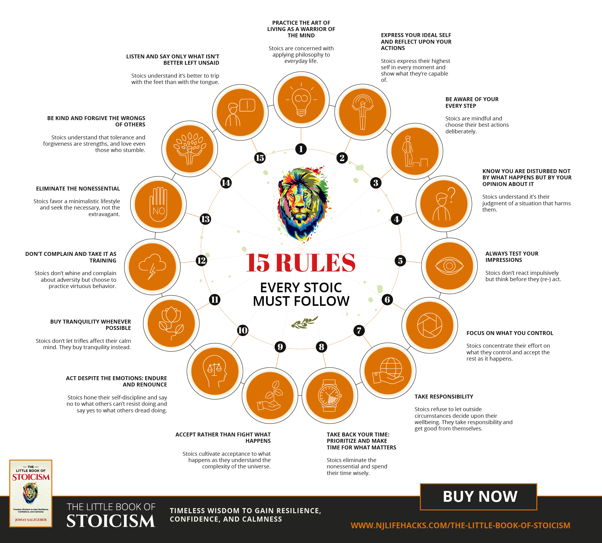 16 Rules Every Stoic Must Follow Infographic